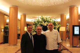 Sofitel Sydney Wentworth General Manger Erkin Aytekin and Executive Chef Boris Cuzon were delighted to host iconic Spanish chef of El Bulli restaurant fame, Ferran Adria at the hotel during his latest Australian visit.