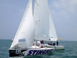 Perfect weather conditions for the Kingdom Property Matchrace Thailand Championship held at Royal Varuna Yacht Club.