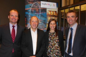 es Australia Singapore Airlines; Alan Alcock, managing director Wendy Wu Tours; Rosa Tripodi , market development manager Singapore Airlines; James Hewlett, commercial manager Singapore Airlines Holidays.