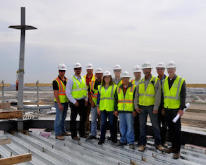 CDA Commissioner Rosemarie S. Andolino (center), senior staff and construction team at the top of the SATCT