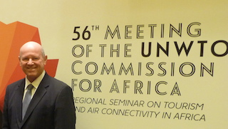 Minister Alain St.Ange of the Seychelles at the Angola CAF Meeting