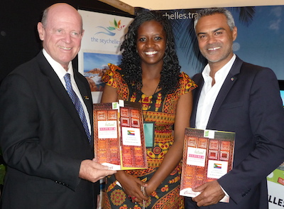 Minister Alain St.Ange (Seychelles), Ms Nawal Msaidie (Comoros) and Mr Eric Koller (Madagascar)