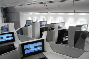Air Canada Business Class cabin