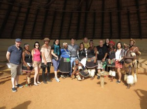 Australian hosted buyers and media with Zulu dancers