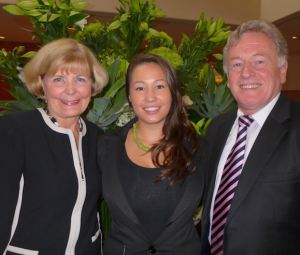 (from left): Professor Elizabeth Roberts, Southern Cross University School of Tourism & Hospitality Management;Anne Hobbs, 2013 winner of the Avis Travel Agent Scholarship; and Russell Butler, Travel Industry Manager, Avis.