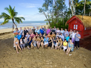 A group of international buyers attending this week's ATE in Cairns enjoyed a very stylish and tropical welcome as guests of tourism marketing company, Parker Travel Collection at Kewarra Beach Resort yesterday