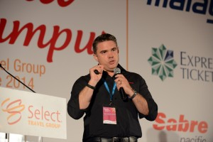 Trafalgar Tours' Matthew Cameron-Smith spells out Trafalgar's new relationship with The Select Travel Group at the Select conference in Kuala Lumpur at the weekend.