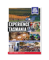 Experience Tasmania travel guide front cover