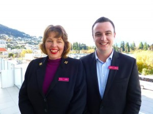 Fiona Lawson and Guy Robinson at Crowne Plaza Queenstown