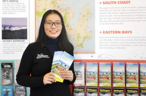 Photo-PWT Chinese Language Brochure at Wellington i-SITE
