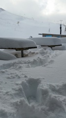 Picnic tables at Coronet Peak are under the snow somewhere_media