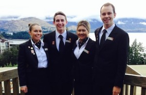 Queenstown Resort College students (from left) Willow Lewis, Harry Greig, Jesse Raroa-Ward and William Clarke