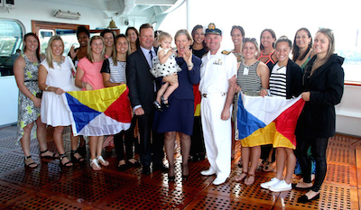 Rugby Sevens on Pacific Jewel with Ann Sherry and Captain Ravera