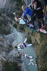 Shotover Canyon Swing last $10 jumper Jessica Freeman from Dunedin_media
