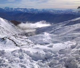 The early May snow at The Remarkables looking down the valley_media