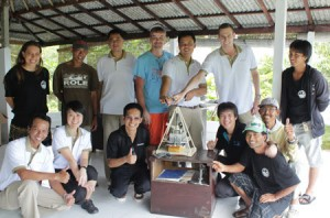 Working together- Conrad Bali and ROLE Foundation teams launch the Soap for Hope recycling project.