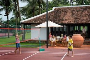 The Kids Activity Villa was built to look like the ancient houses of Central Vietnam