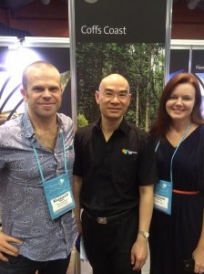 Russell and Nicole with Asian Client