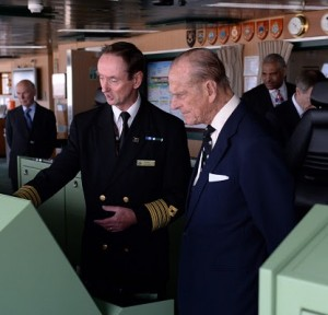 HIS ROYAL HIGHNESS THE DUKE OF EDINBURGH VISITS CUNARDÕS QUEEN MARY 2 ON THE FLAGSHIP'S 10TH ANNIVERSARY HIS ROYAL HIGHNESS THE DUKE OF EDINBURGH VISITS CUNARDÕS QUEEN MARY 2 ON THE FLAGSHIP'S 10TH ANNIVERSARY 9 MAY 2014