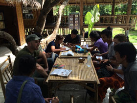 Guide session on bird life in Khao Sok
