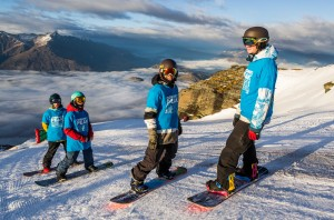 Boys ready for their first run on Coronet Peak's M1 (L-R) Finn, Tiarn, Jacob and Cooper