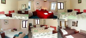 COLLAGE of accommodation at the Tan Hill Inn. (Tan Hill Inn)