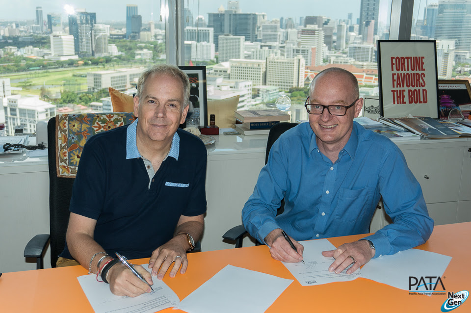 Mario Hardy, Chief Operations Officer, PATA; and Andreas Astrup, General Manager, The Code