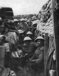 Members of the Australian 53rd Battalion. Of the men pictured, only three survived the battle, all wounded.