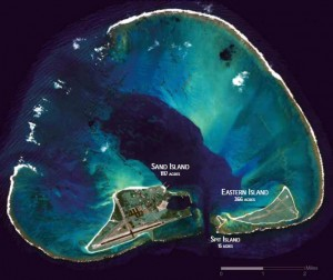 Midway Atoll aerial photo