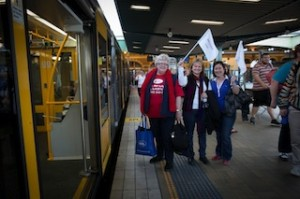 NSWNMA at Central train