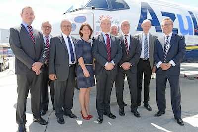 Nordic Aviation Capital team at Farnborough Airshow 2014-5