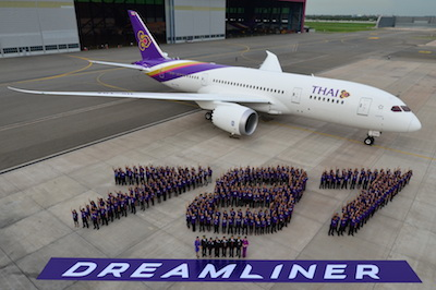 TG101_THAI Welcomes First 787 Dreamliner-4