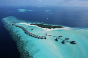 The Maldives ... a serene contrast to Singapore's Formula One Grand Prix