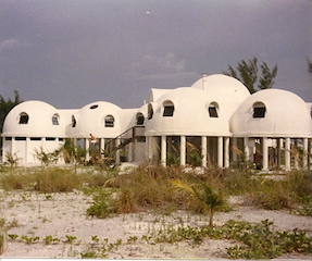 AS it was firmly on land amid sand and palms during construction. (Janet Maples)