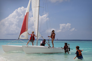 AHOY MATEY: Sailing in one of the most spectacular environments in Asia is one of the many sporting activities at the camps - a three-pronged enhancer of the body, the mind and social conscience.
