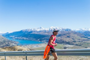 A run with a view – Nick Niko running up the Remarkables access road_media