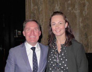 Accor Pacific Chief Operating Officer Simon McGrath and Accor PR executive Bridie Commerford