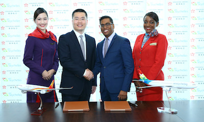 Air Seychelles And Hong Kong Airlines Codeshare