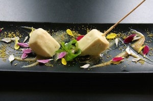 Banana Parfait with Cloves, White Chocolate and Wasabi l