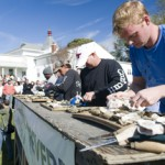 The Oyster Shucking Contest at the Urbanna Oyster Festival.