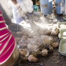 Hot, steaming oyster available at the Urbanna Oyster Festival.