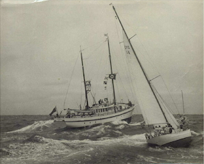 AS Radio Relay ship for the Sydney-Hobart Yacht Race in the 1960s.
