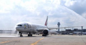 Emirates' first flight from Dubai arrives at O'Hare