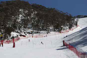 Finish line at the first Slalom
