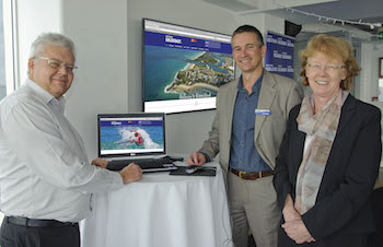 From left CEO of Connecting Southern Gold Coast Peter Doggett, Chair Michael Tree and Division 14 Cr Chris Robbins
