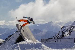 Getting air at The Stash at The Remarkables