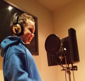 James Stoles recording the voice of Billy Bubble for the video