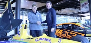 Monster Tajima and Mike Sentch celebrate the announcement Race to the Sky will return_media