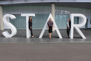 Nina Hoven with members of The Star Events Team