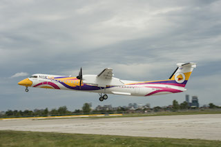 Nok Air First Q400 Takes Off From Toronto